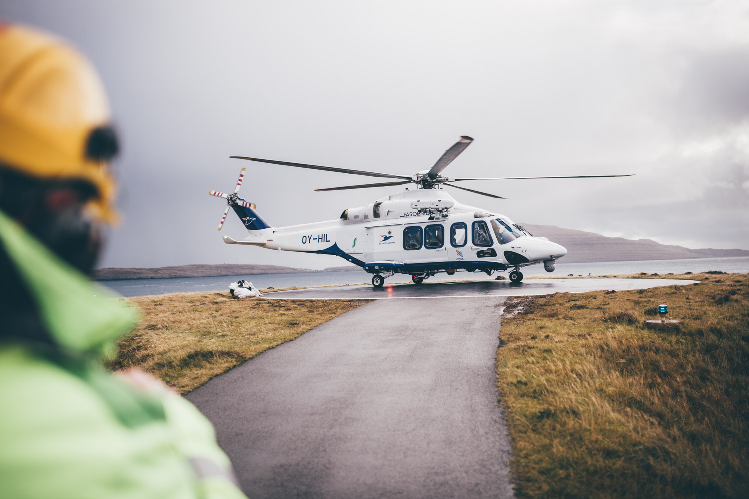 Faroe Islands Florian Besser Travel Färör Inseln Reise Foto Helicopter Helikopter Atlantic Airways